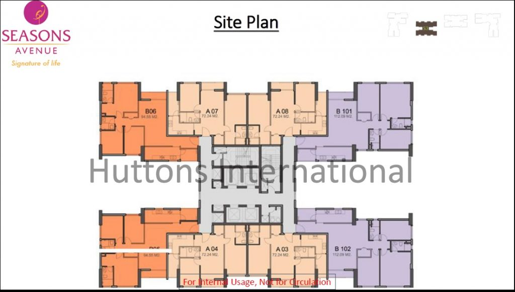 Season Avenue Hanoi_Autumn Tower Site Plan