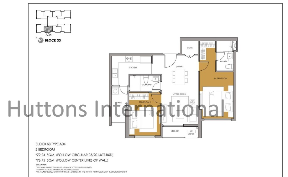 Seasons Avenue Hanoi Floor Plan_2BR_A04