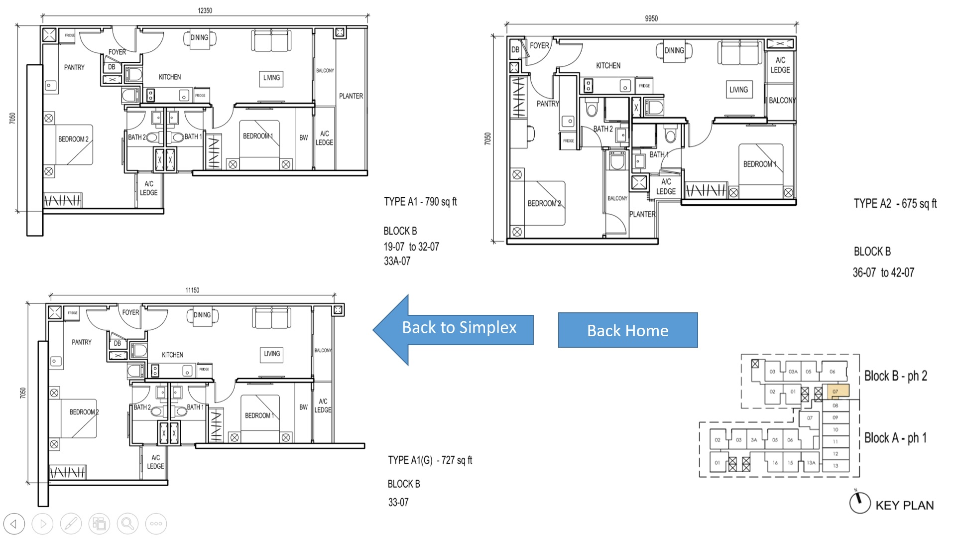 The Luxe KL Floor Plan Type A 2BR Simplex