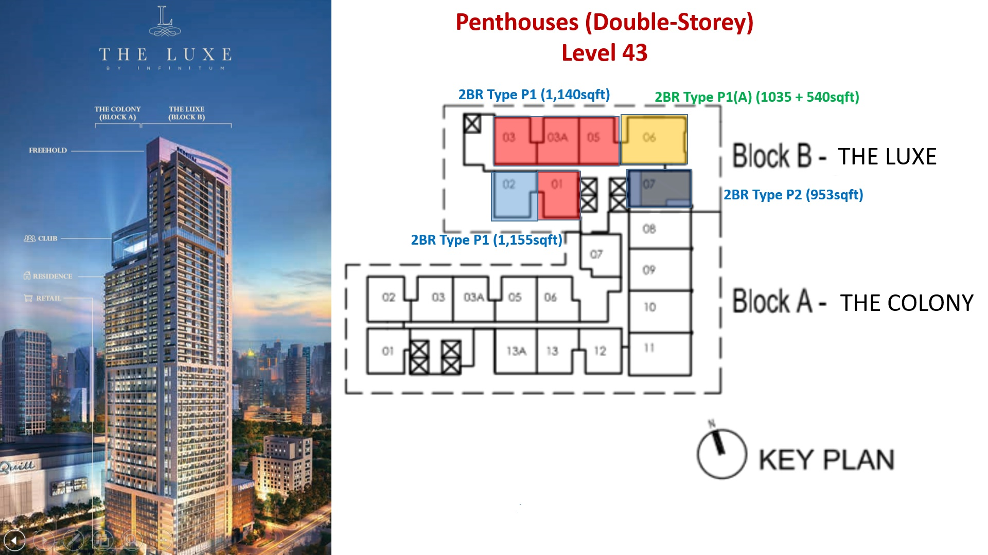 The Luxe KL Site Plan Penthouses