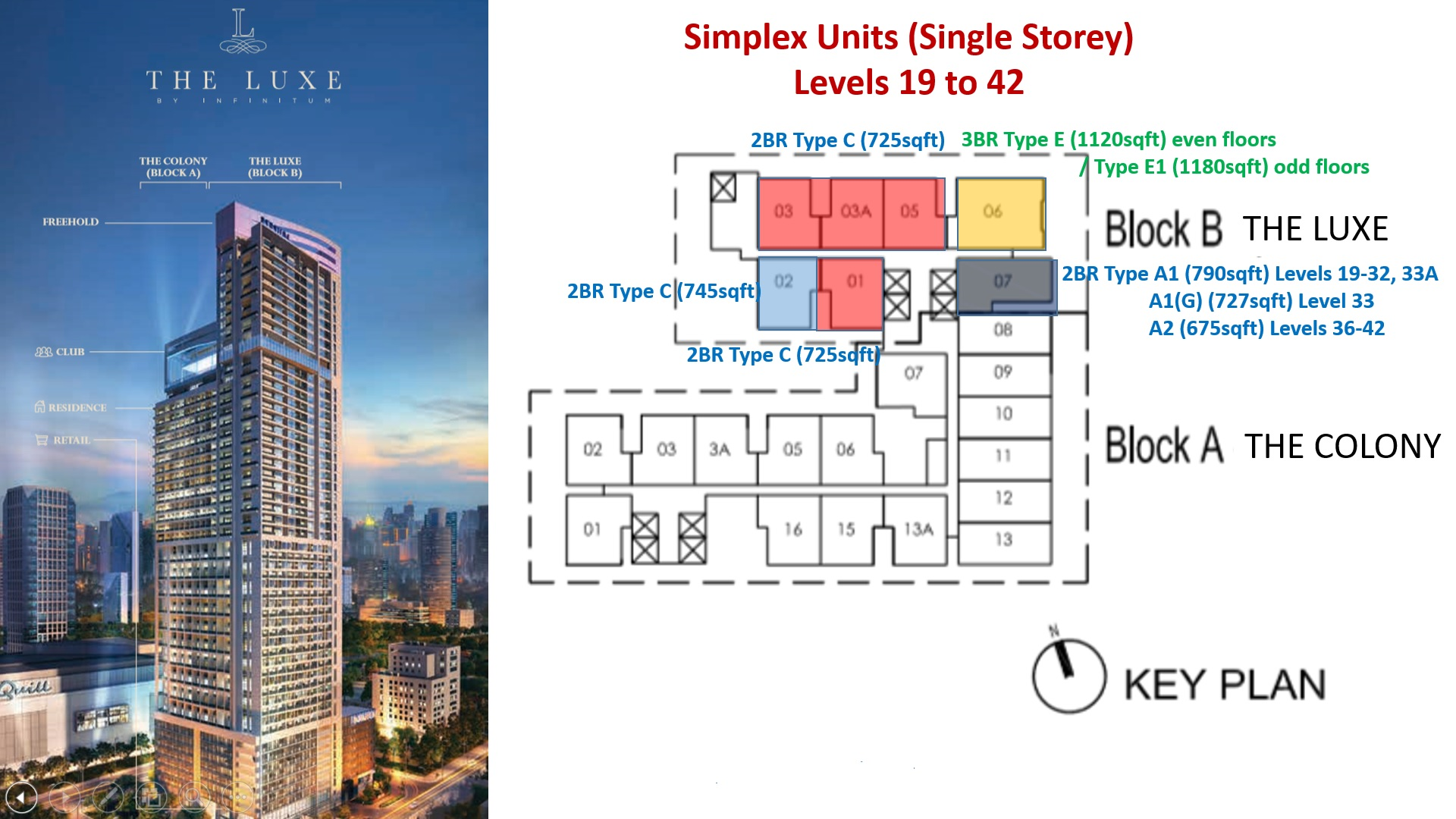 The Luxe KL Site Plan_Simplex Units