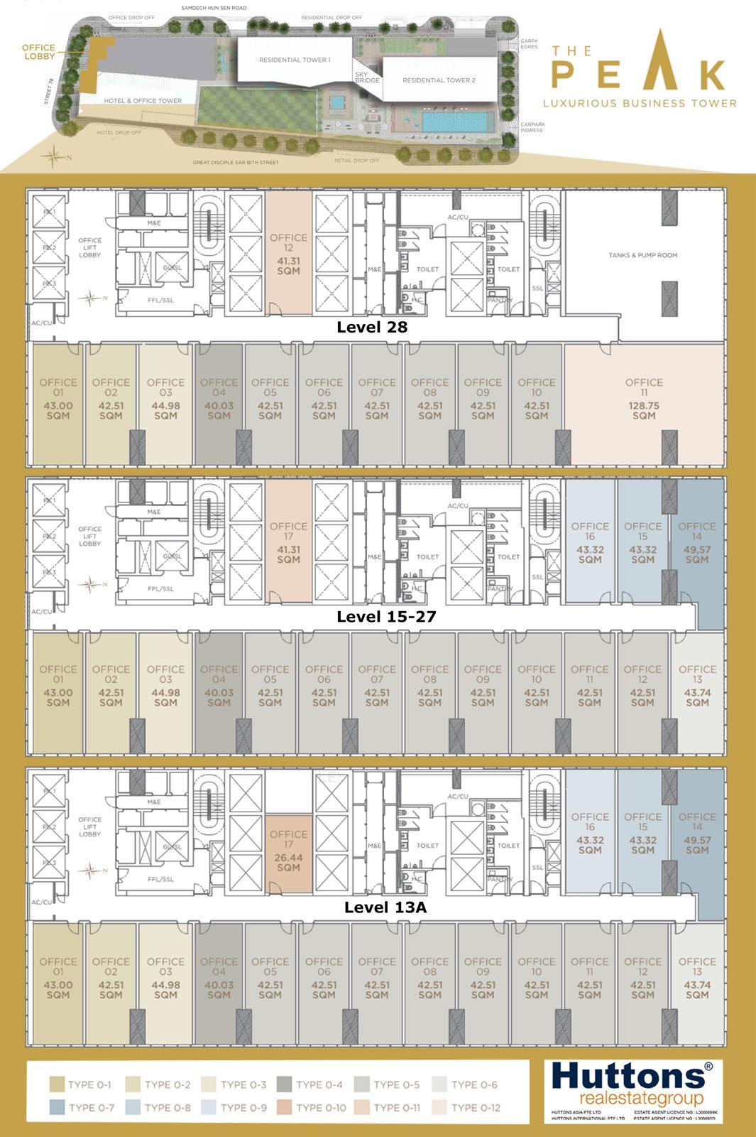 The Peak Cambodia Offices Floor Plan