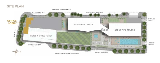 The Peak Cambodia offices site plan