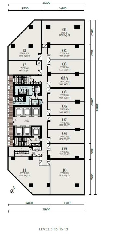Oxley Tower Signature Office Floor Plan