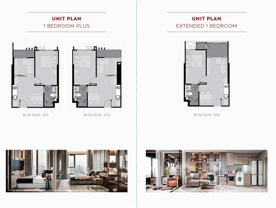 Life Sukhumvit 62 Floor Plan_1BR Plus, Extended 1BR