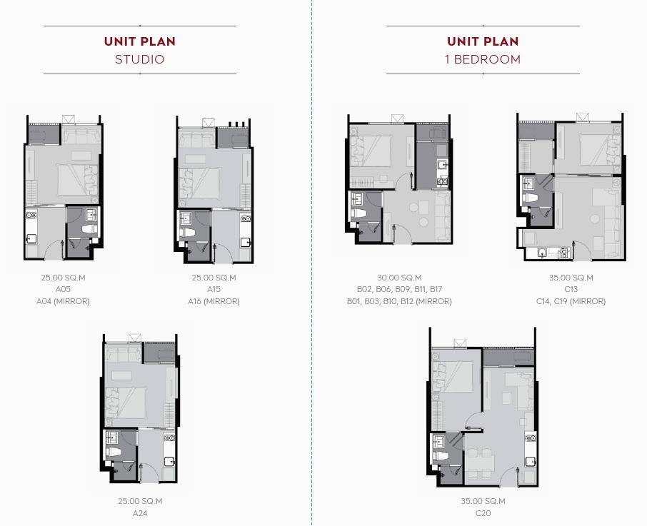 Life Sukhumvit 62 Floor Plan_Studio, 1BR