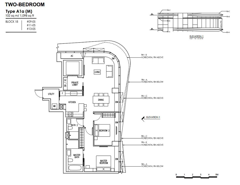 New Futura Floor Plan 2bedroom A1a