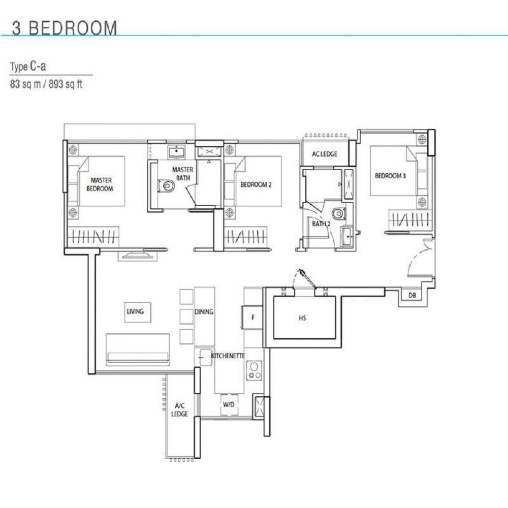 The Line Tanjong Rhu 3bedrooms Floor Plan