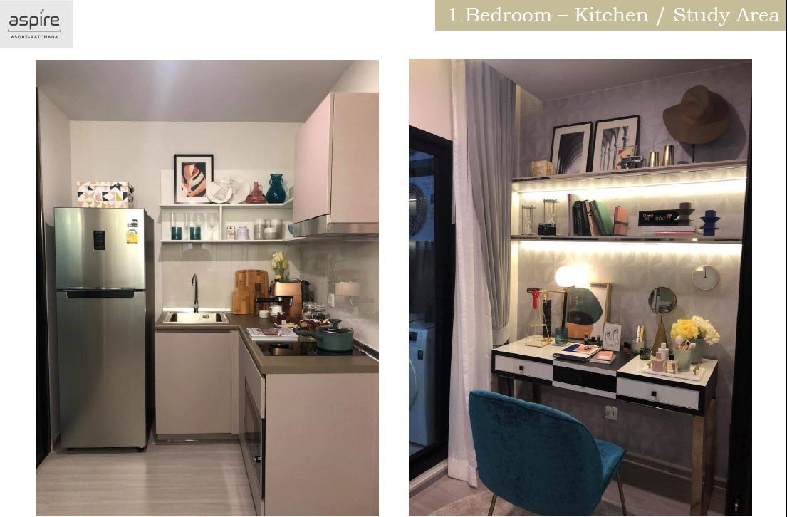 Aspire Asoke Ratchada Show Unit 1 Bedroom Kitchen And