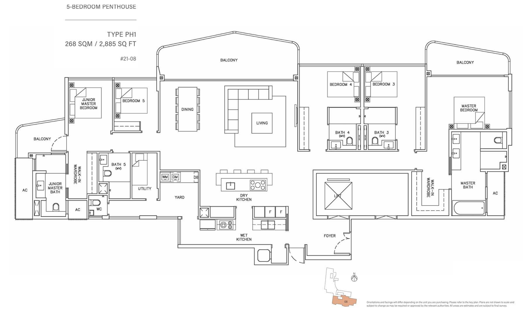 Coastline Residences Floor Plan 4