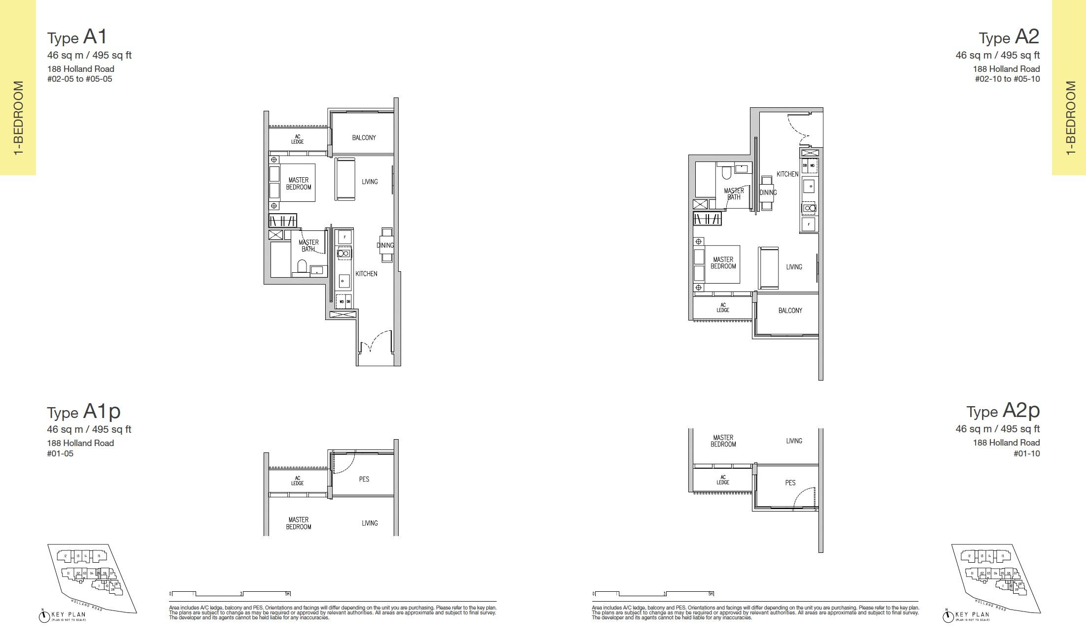 Van Holland Floor Plan 1br